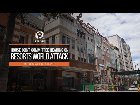 LIVE: House hearing on the Resorts World Manila attack, June 14