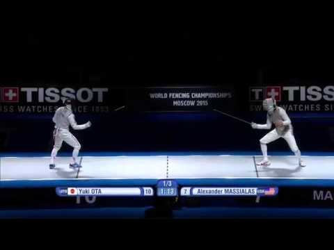 Ota vs Massialas-----Moscow 2015 world Championship men's foil final