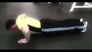Отжимания от пола / техника выполнения упражнения