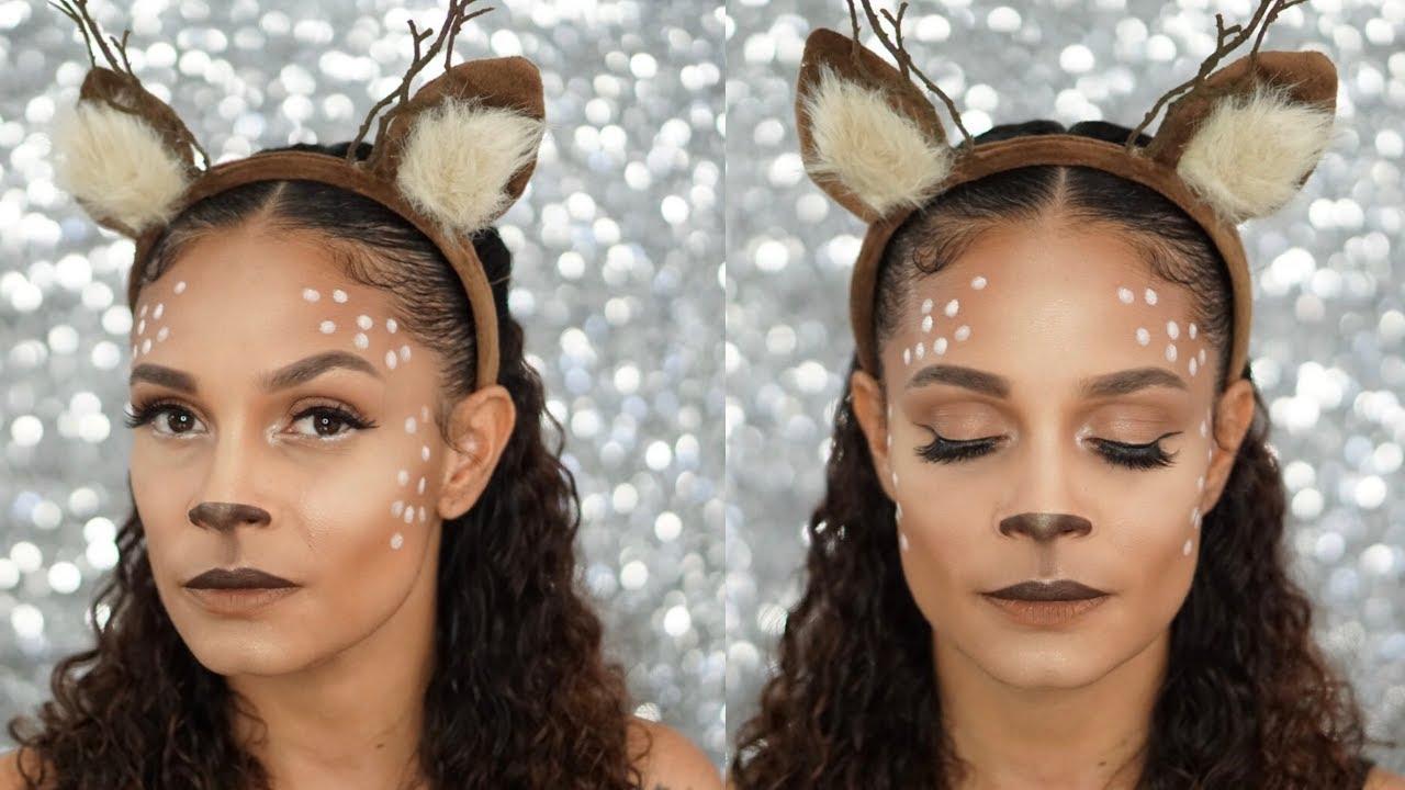 Makeup Tutorial: Easy Deer Makeup For
