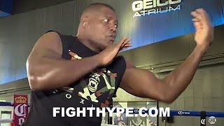 LUIS ORTIZ PUTS SLICK SKILLS ON DISPLAY; LOOKS LOOSE AND READY TO SCHOOL DEONTAY WILDER