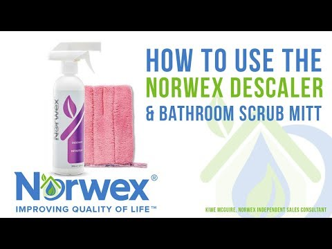 The Norwex Descaler Demo How To Use Remove Hard Water Residue Lime Calcium Rust
