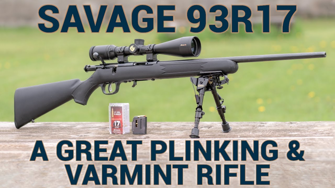 Download The Savage 93R17 Rifle is Great For Plinking and Varmints