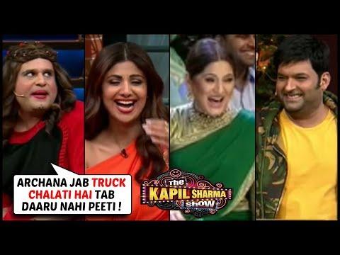 Krushna Abhishek Aka Sapna FUN TIME With Shilpa, Paresh, Archana The Kapil Sharma Show Hungama 2
