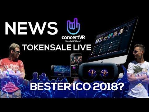 ConcertVR NEWS - einer der besten Crypto ICOs 2018? Concertvr.io CVT Tokensale Bitcoin, Lisk, xrp...