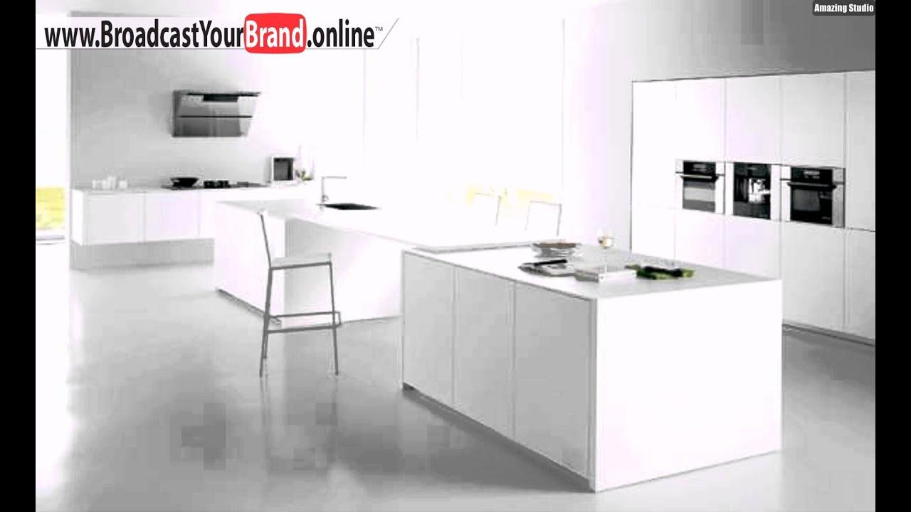 Wohnen weiß einrichtung küche puristisch   youtube