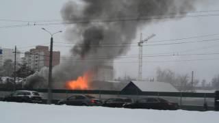 Пожар в Терновке. Пенза, 5.01.2017 г.