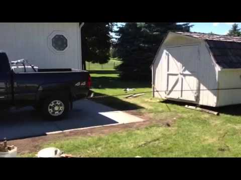 How To Move A Large Shed Youtube