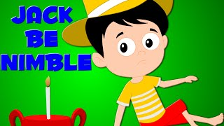 Jack Be Nimble | Kids Songs | Nursery Rhymes | Baby Rhyme