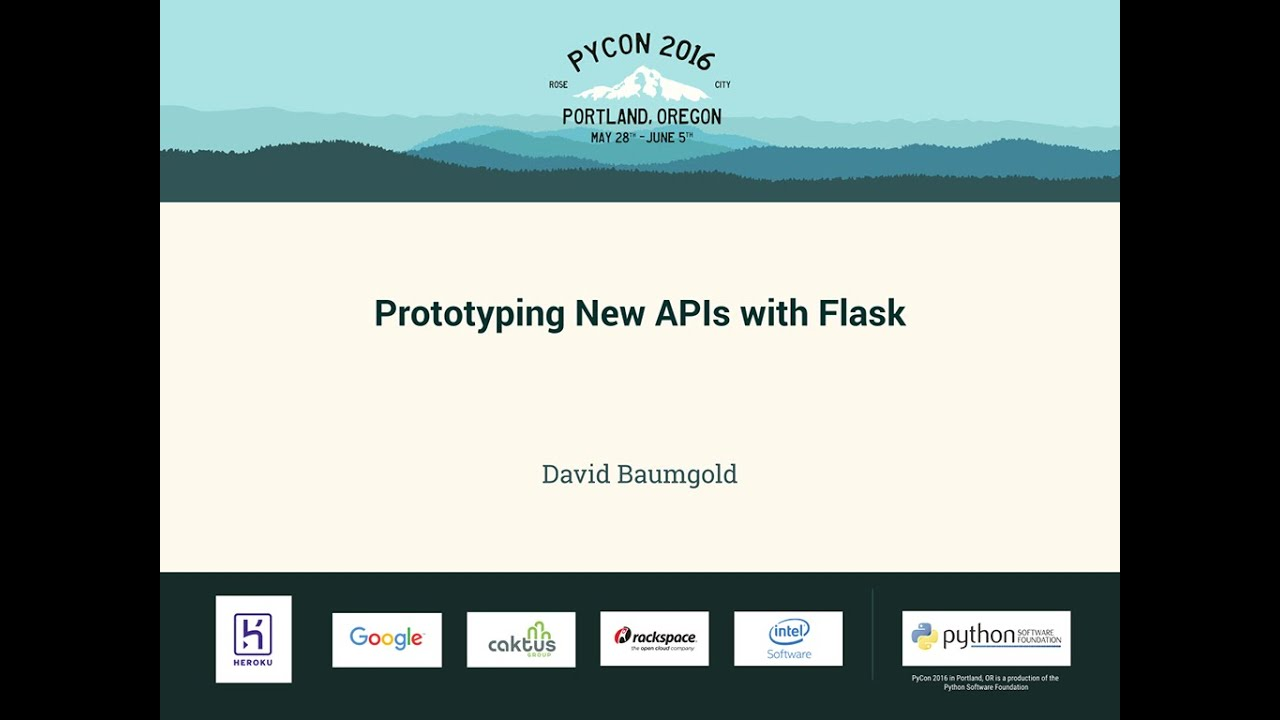 Image from Prototyping New APIs with Flask