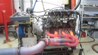 Mazda R26B 4 Rotor Engine Dyno - GLOWING HEADER!