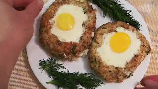 Рецепты простые и вкусные. Готовим гнезда с яйцом