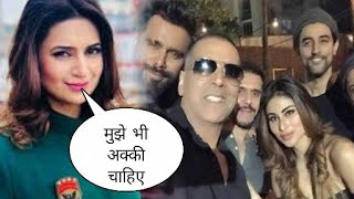 Divyanka tripathi Reaction on Akshay Kumar and mouni roy, divyanka wishes playing with akki