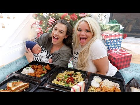 MY INTENSE BIRTH STORY! - Mukbang w/ Trisha Paytas