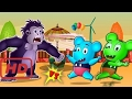 [Mickey Mouse] Mickey Mouse Gummy Bear Scares Gorilla with Halloween Pranks Finger Family | Funny
