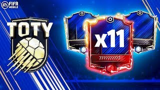 11 ELITE TOTY PLAYERS IN PACKS!!! DEFENDER CHAIN PACK!!! FIFA MOBILE