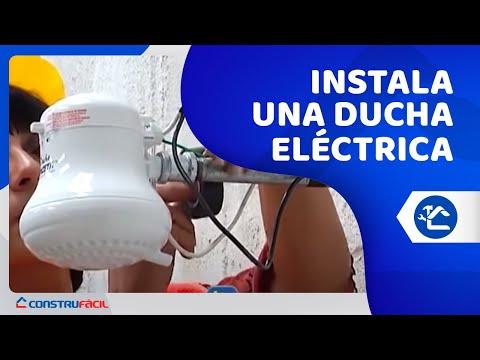 Instalemos una ducha el ctrica youtube for Como funciona una regadera electrica