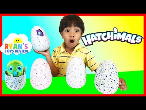 Thumbnail: HATCHIMALS SURPRISE EGGS OPENING Magical Animals Hatching EGG Spin Master Kids Toys Ryan ToysReview