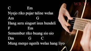 lirik kunci gitar chord kepaling vita banyuwangi karaoke