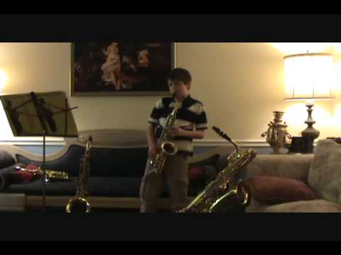 DEMONSTRATION OF FOUR SAXOPHONES - Alto, Tenor, Soprano and Baritone Saxophones