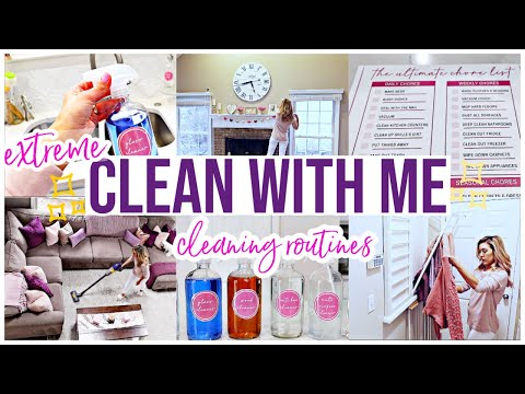 EXTREME CLEAN WITH ME 2020 | DAILY CLEANING ROUTINE + WEEKLY SAHM HOME CLEANING MOTIVATION Brianna K
