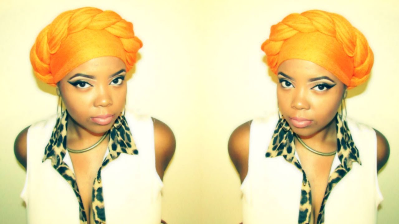How To Style Your Scarf Into A Headwrap Natural Hair Friendly