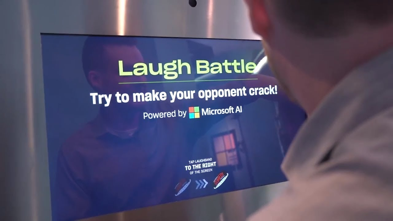 Microsoft AI and laughter converge at the National Comedy Center