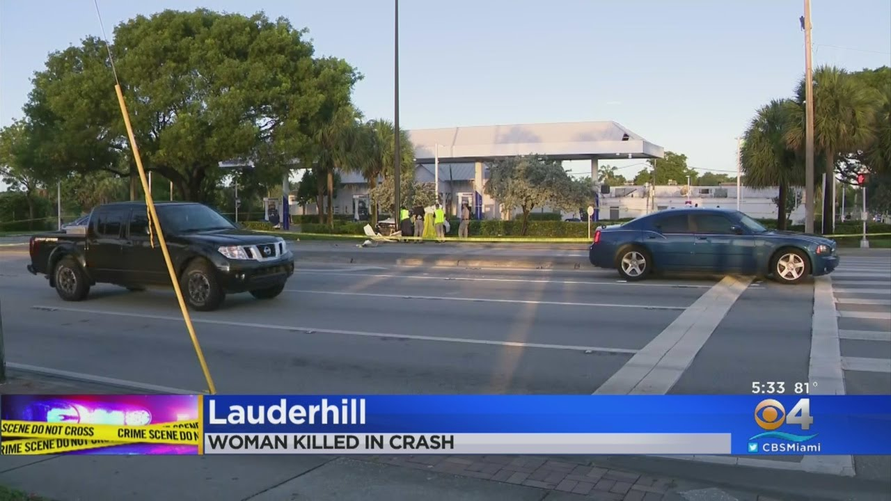 Woman Dies In Lauderhill Car Crash