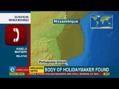 Missing South African holidaymaker found dead in Mozambique