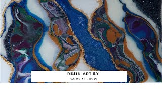 Resin Art_Geode_Just4UOnlineUkGlitter & Pigments_Fluid Art #Paintitforward2019