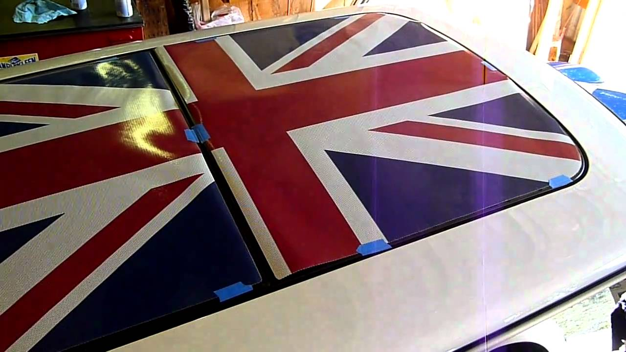 Preparing For Installation Of A Union Jack Sunroof Graphic Bought