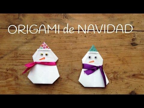Una divertida manualidad de origami fácil para niños: un muñeco de nieve