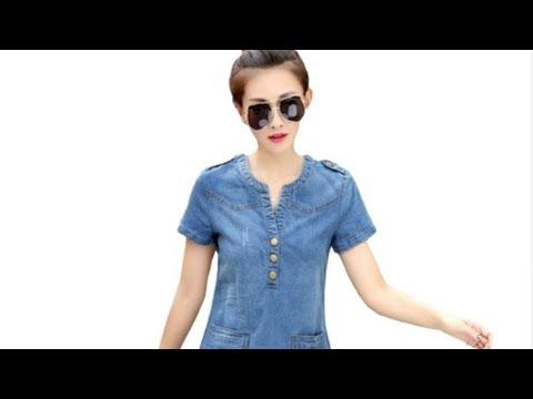 Джинсовое платье из Китая