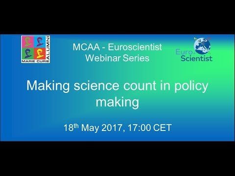 Making science count in policy making
