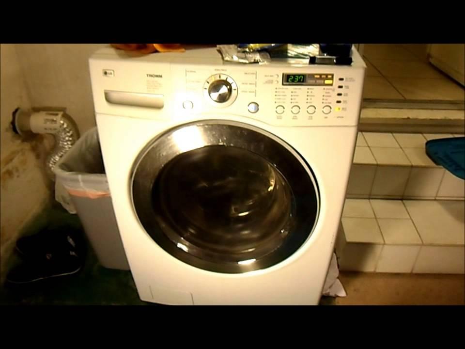 Lg Washing Machine Repair >> Broken Washer/Dryer - LG TROMM WM2077CW - YouTube