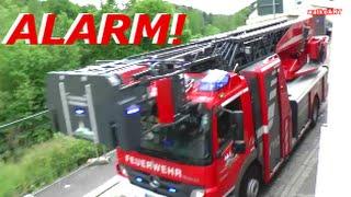 ALARM ! Feuerwehrhochzeit - Feuerwehr Waldenbuch Kolonnenfahrt - Firefighter wedding driving