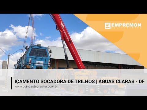 Içamento de Socadora de Trilhos - Empremon Guindastes - Brasília - DF