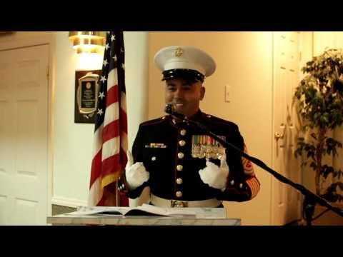 Motivational Speaker MSgt Montes 237th Marine Corps Ball Part 1