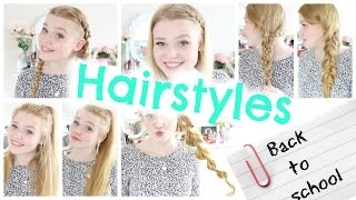 BACK TO SCHOOL: HAIRSTYLES Quick & Easy NO HEAT | #backtoschoolwithmeggy