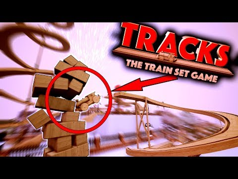 STUNT TRAIN COURSE OF DESTRUCTION! - Tracks - The Train Set Game Gameplay Ep3