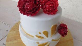 Peony Cake (raspberry - Lemon Curd)/ Pfingstrosentorte (himbeer - Lemon Curd)
