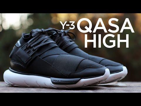331b0258d4452 Closer Look  Y-3 Qasa High - Black White - YouTube
