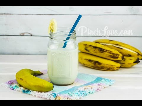 ОЧЕНЬ ВКУСНО И ПОЛЕЗНО! Смузи из банана, молока и меда! Banana Smoothie