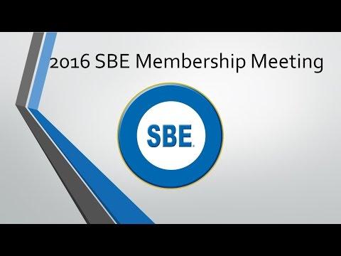 SBE 2016 National Membership Meeting