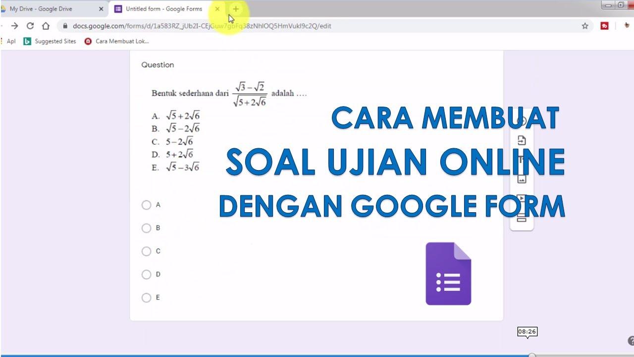 Termudah Cara Membuat Soal Ujian Matematika Online Dengan Google Form Tanpa Ribet Youtube