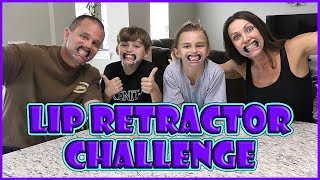 LIP RETRACTOR CHALLENGE | MOUTHGUARD CHALLENGE | We Are The Davises