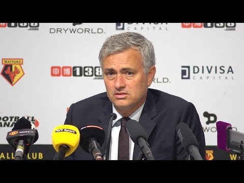 Watford 3-1 Manchester United - Jose Mourinho Full Post Match Press Conference