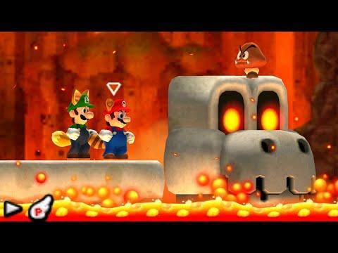New Super Mario Bros. 2 - 100% Walkthrough - World 6 (2 Player)