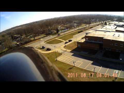 Radians crash fighting the wind over Brubaker Elementary school