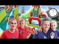 SUMMER BACKYARD OBSTACLE COURSE! Family Vs. Family - Who Will Win?!